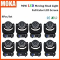 8pcs/lot Multiple color zoom 90w led dj moving head light sound and automatic control lights using for stage show  bar