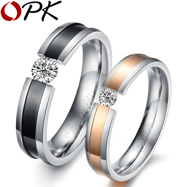Opk Free Engraved Name Rings For Simulated Crystal Wedding Bands Price 1 Pair