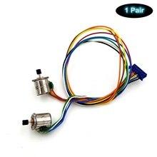 2 шт./лот микро шаговый двигатель 8 мм 2-фазный шаговый двигатель 4-проводной с Шестерни и соединительная линия