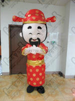 new year god of wealth mascot costume red fancy dress party costumes