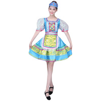 Ejqyhqr Russian Style Traditional Dress Women Stage Broadway Show Costume Dance Dresses European Princess Performance Clothing