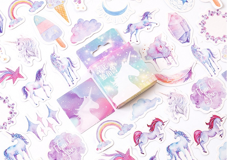 S6- Colorful Horse Diy Decorative Stickers(1pack=46pieces)