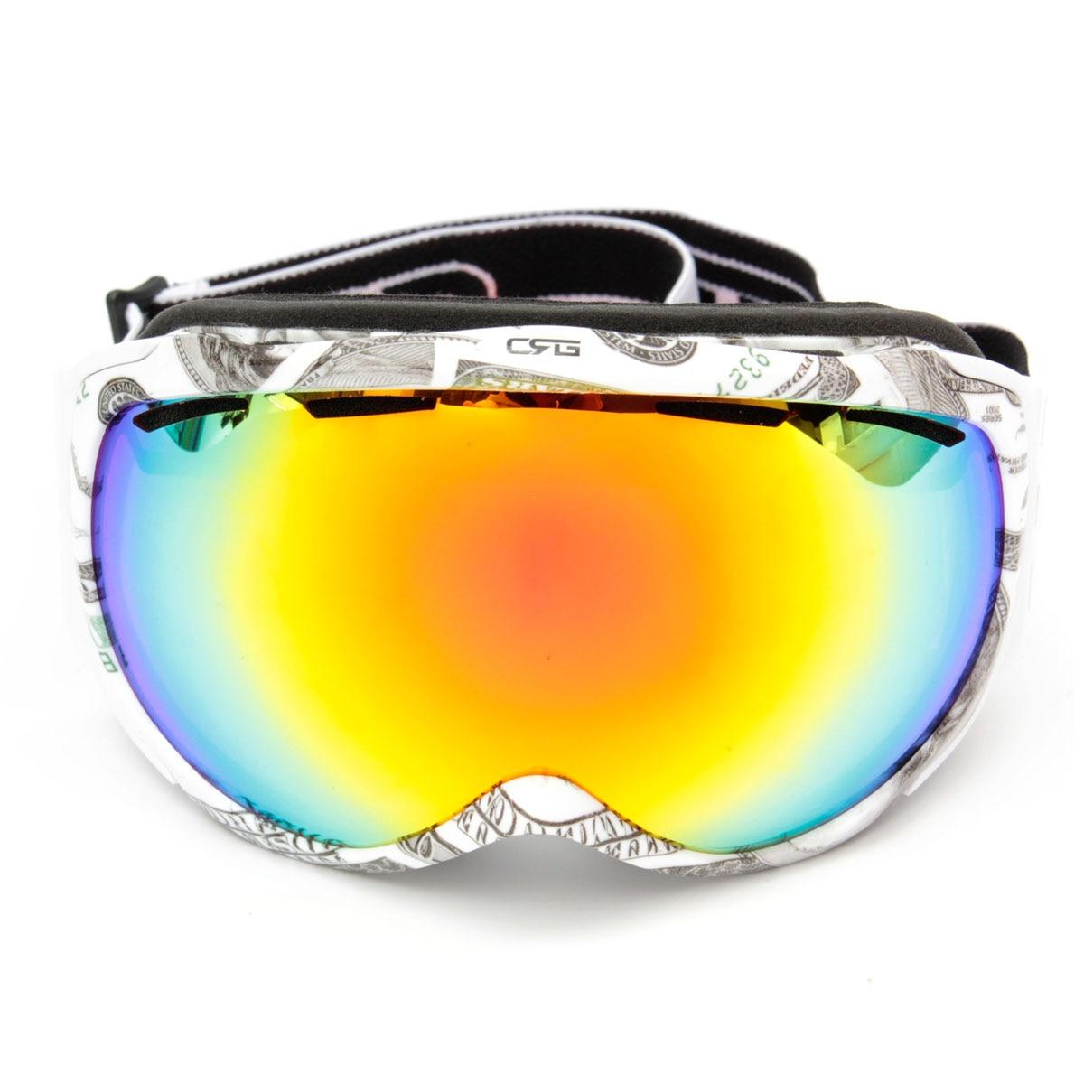 Prix pour Marque Unisexe Adultes Professionnel Sphérique Double Lentille Miroir Snowboard Anti Brouillard UV Ski Lunettes Lunettes