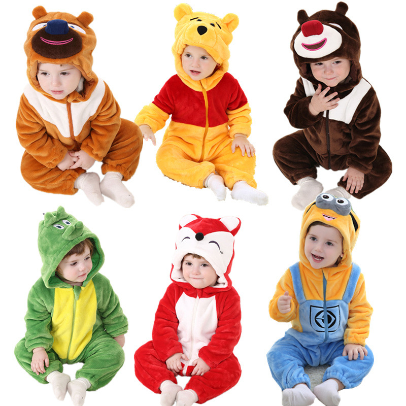 Autumn Baby Rompers Layette Long Sleeve Boy Girl Next Cartoon Warm Jumpsuits Infantil Hooded Casaco Costume Coat Kids Clothes cotton baby rompers set newborn clothes baby clothing boys girls cartoon jumpsuits long sleeve overalls coveralls autumn winter