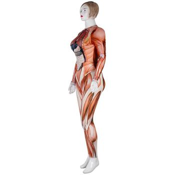 PLstar Cosmos New Women/girl Human body structure muscle Cosplay apparel Zentai Bodysuit Suit Jumpsuits 3