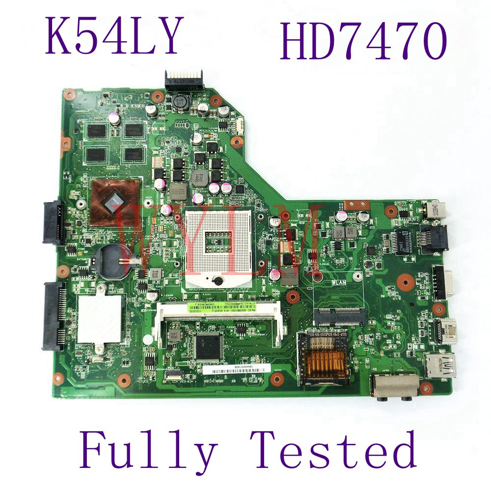 K54LY HD7470M Mainboard REV2.1 For ASUS K54H X54HR K54LY K54HR Laptop motherboard HM55 DDR3 PGA989 60-N9EMB1000-A14 Full Tested k54hr x54h k54ly laptop motherboard for asus for i3 cpu full tested ok 6 months warranty