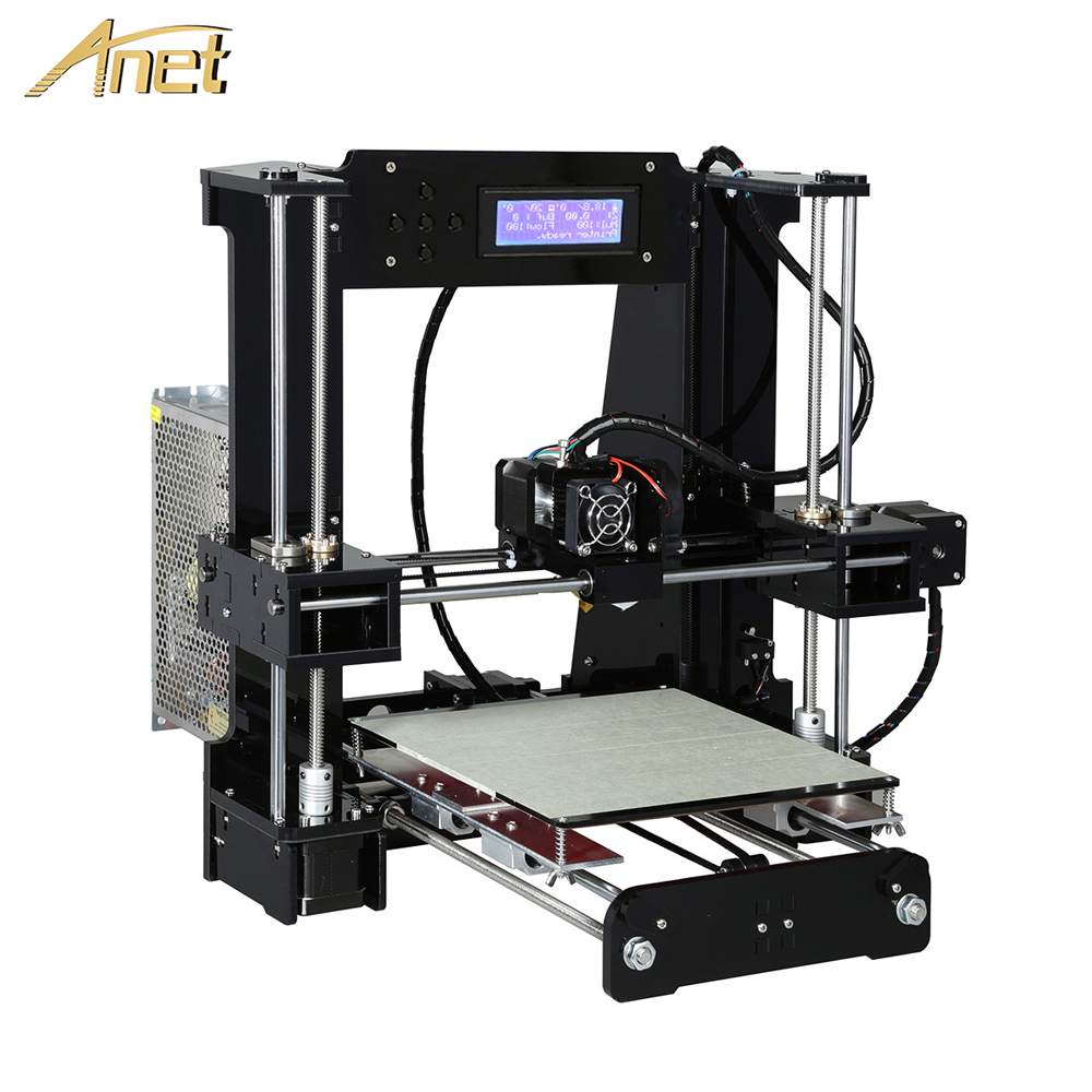 Anet A8 A6 Auto Level A8 A6 3d Printer High-precision extruder Reprap Prusa i3 3D printer Kit DIY impresora 3d with PLA Filament dc24v cooling extruder 5015 air blower 40 10fan for anet a6 a8 circuit board heat reprap mendel prusa i3 3d printer parts