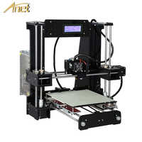 Anet A8 A6 nivel automático A8 A6 3d impresora extrusora de alta precisión Reprap Prusa i3 3D Kit de impresora DIY impresora 3d con filamento PLA