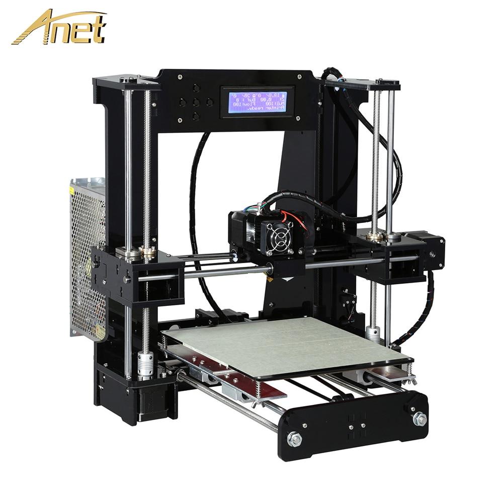 Anet a8 a6 nível automático a8 a6 impressora 3d extrusora de alta precisão reprap prusa i3 kit impressora 3d diy impressora 3d com filamento pla
