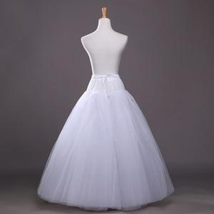 Image 4 - 4 layers of Hard Tulle Petticoat Underskirt Slip Wedding Accessories Chemise Without Hoop For Wedding Dress Crinoline Jupe Slip