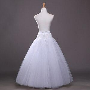 Image 4 - 4 schichten von Fest Tüll Petticoat Unterrock Schlupf Hochzeit Zubehör Chemise Ohne Hoop Für Hochzeit Kleid Krinoline Jupe Slip