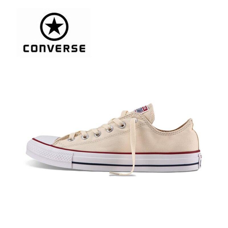 Converse Для мужчин и Для женщин классический холст Скейтбординг обувь с низким верхом Нескользящая прочная унисекс анти-скользкие Sneakser