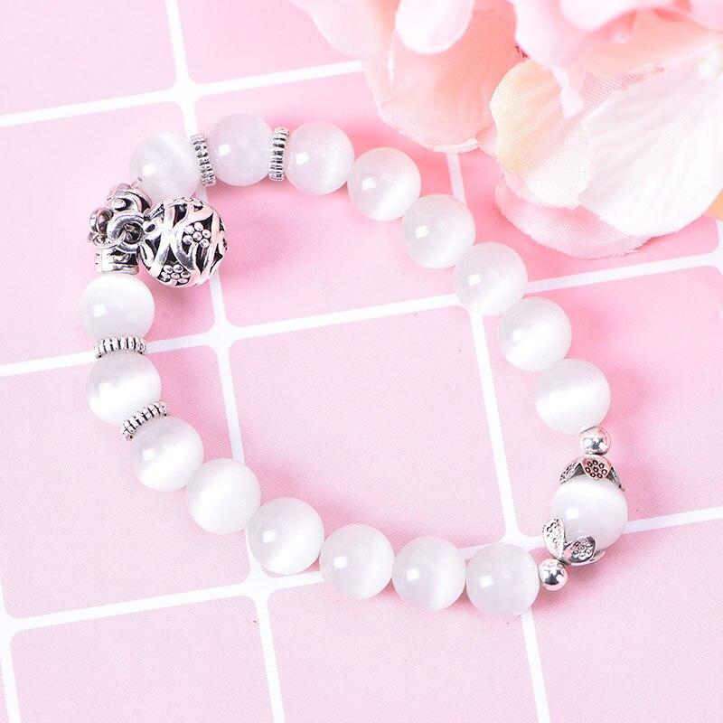 Methodisch Weiße Katze Auge Perlen Armband Gewicht Verlust Magnet Mit Glück Anhänger Therapie Armband Fußkettchen Gewicht Verlust Produkt Gesundheit Pflege Duftendes Aroma In