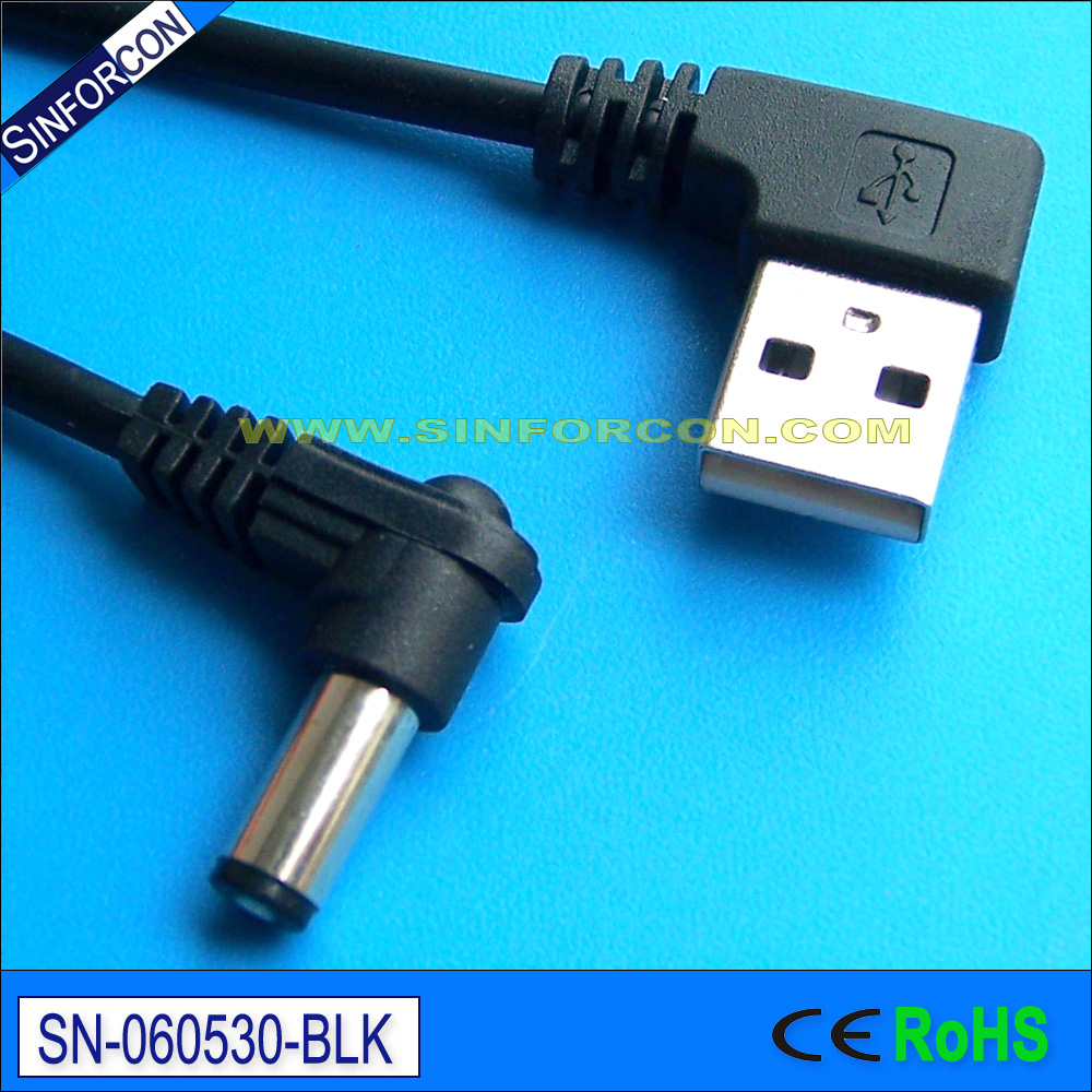 usb2dc plug cable l shape usb to dc 5 5 2 1 dc power adapter cable for  clock module-in Computer Cables & Connectors from Computer & Office on  Aliexpress.com ...