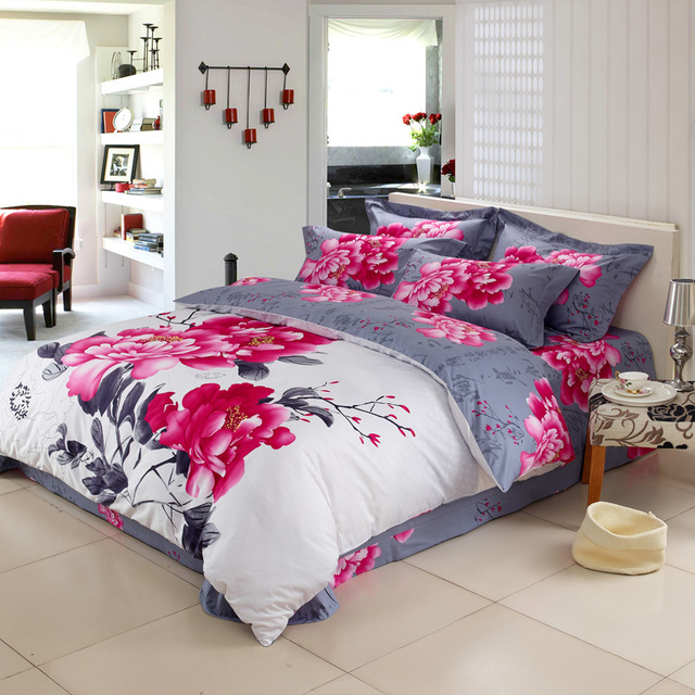 Asian calligraphy bedding set