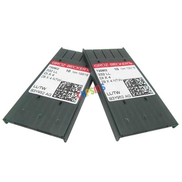 20 PCS Groz בקרט 332LL 29X4NTW DIX4 עור מחטי fit עבור הזמר 29 4, 29 K מכונות