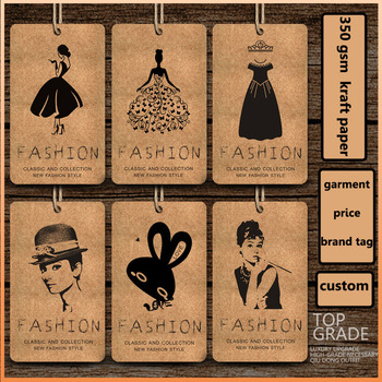 2.1*3.55inch free shipping Customized products hang Tags/trademark manufacture kraft paper sewing tag/printed tags