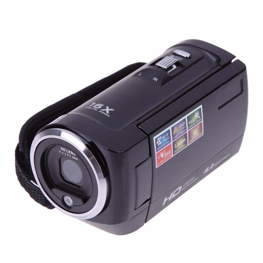 2.7 TFT LCD 16MP CMOS Sensor Digital Camera HD 720P Digital Video Camera 16x Digital DV Camcorders DV DVR With Plug Camcorder 16mp max digital video camera with 16x digital zoom 5mp cmos sensor 720p hd lithium battery free shipping