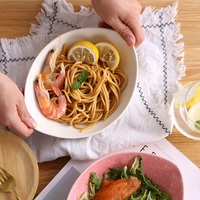 Japonais sous glaçure céramique vaisselle creative ménage navire disque plaque plat salade bol Salade Dessert crème glacée