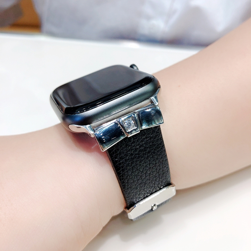 strap for <font><b>Apple</b></font> <font><b>watch</b></font> band 4 44mm 40mm <font><b>correa</b></font> <font><b>42mm</b></font> 38mm Woman Leather Diamond bracelet watchband iwatch <font><b>3</b></font> 2 1 <font><b>watch</b></font> accessories image
