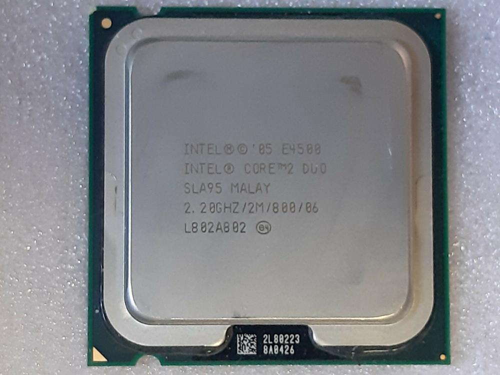 Intel Core Duo 2 E4500 Processador de Desktop Dual-Core 2.2 GHz 2 MB Cache 800 MHz FSB LGA 775 E 4500 CPU Usado