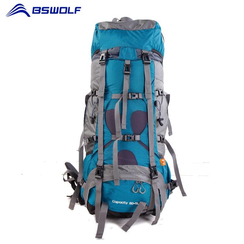 BSWolf 75L sac d'alpinisme avec couverture de pluie sac à dos de voyage imperméable escalade randonnée sac à dos équipement de Camping en plein air