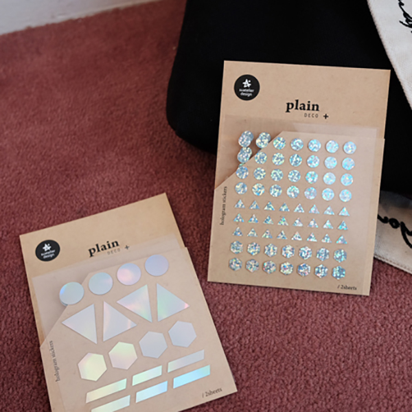 2Pcs/Set Laser Fluorescent Decorative Sticker Round Raindrop DIY Scrapbooking Korean Stationery Planner Stickers