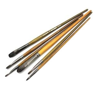 Image 4 - Оценочный высококачественный хорьковый барсук волос профессиональная акриловая масляная краска кисть набор художественных кистей для искусства китайские принадлежности для рисования