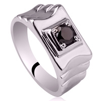 Men Sterling Silver Ring Fashion Jewelry Support Wholesale Ripple Band Design Man Size 10 11 12 13 R520