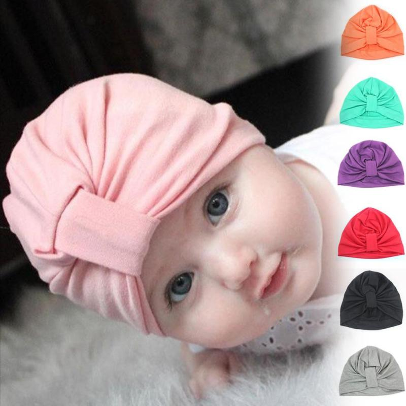 Soft Cute Cotton Baby Turban Hats Infant Accessories Head Band hats Party Girl Baby Hair Band Toddler Turban Knot Headband D3 цена