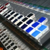 투명 플라스틱 수채화 페인트 시험 분배 그리드 투명 미니 스퀘어 하프 블록 -