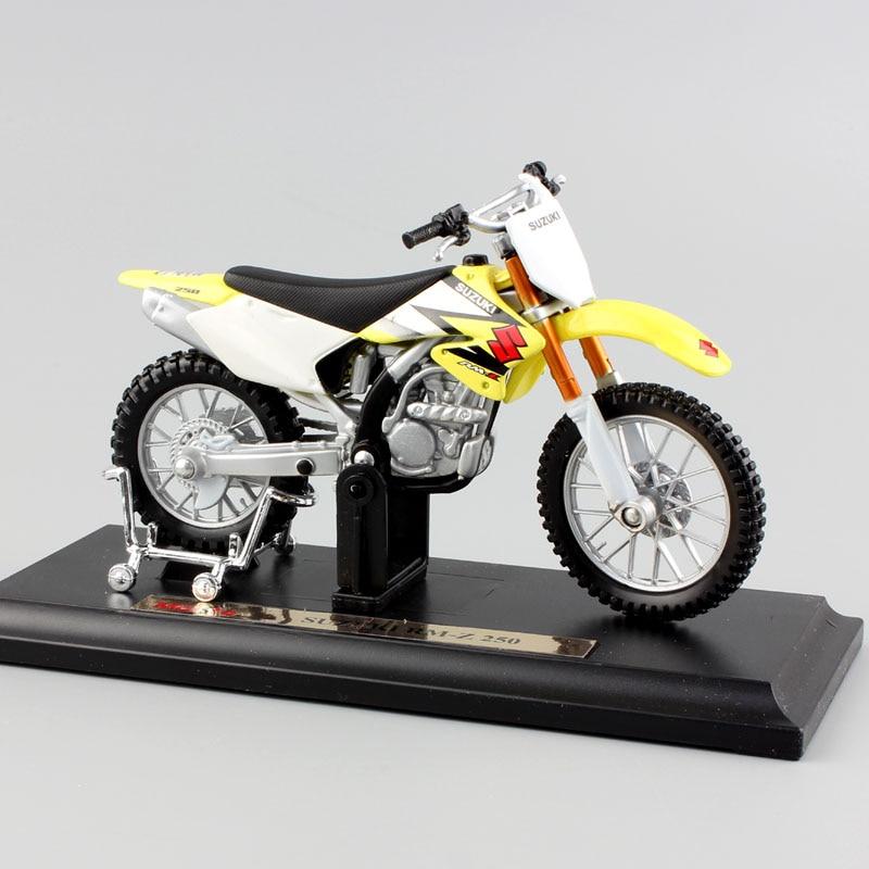 1:18 Scale Child's Mini SUZUKI RM250 RMZ250 Metal Model Motorcycle Dirt Bike Toys Race Enduro Diecasts & Toy Vehicles Motocross