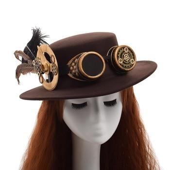 Шляпа в стиле стимпанк с очками вариант 5