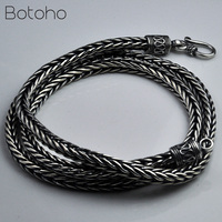 4mm&5mm Solid 925 Sterling Silver Snake Chain Necklaces For Men Vintage Punk Thai Silver Necklace Fine Jewelry Father's Day Gift