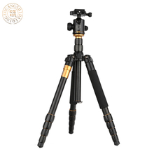 QZSD Q666 Proแบบพกพาขาตั้งกล้องmonopodอลูมิเนียมQ-666สำหรับกล้องSLRเดินทางโหลดไป15กิโลกรัมจัดส่งฟรี