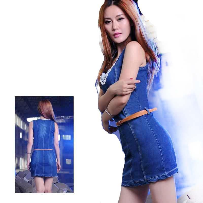 Popular Blue Jean Dresses for Women-Buy Cheap Blue Jean Dresses ...