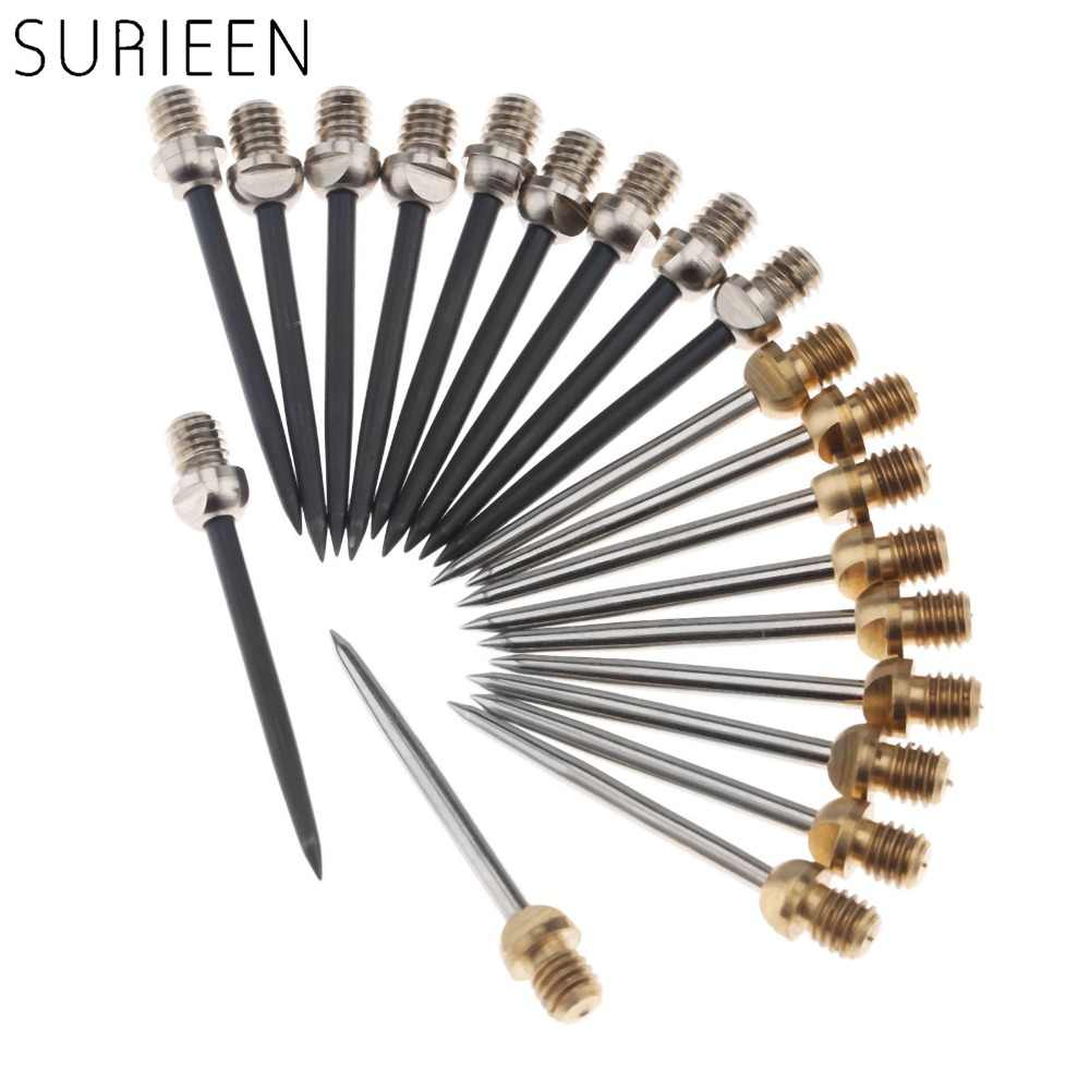 10pcs 3.5cm Harrows Darts Steel Tips Conversion Metal Needle Dart Tip Points Flight Shaft Replace Darts Accessories Silver/Black