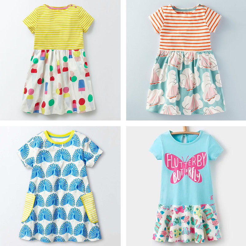 Brand Quality 100% Cotton 2018 New Baby Girls Dresses Summer Children Clothing Kids Clothes Girls Casual Dress Baby Girl Clothes baby girl summer dress children res minnie mouse sleeveless clothes kids casual cotton casual clothing princess girls dresses page 9
