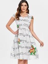 ELBENWALD Di Natale Dell innamorato del Collo della Nota di Musica di  Stampa Delle Donne del Vestito della Nota di Musica di Sta. e002c532012