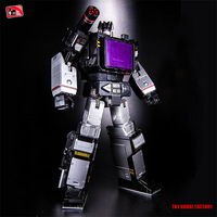 22Cm Alloy Black Optimus Prime THF 01B Master MP13b Sound Wave Figures Model Recorder Robot Deformation Classic Edition Toys