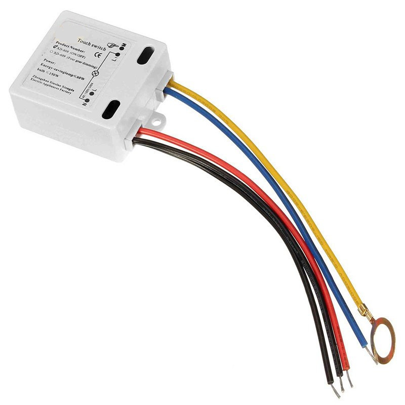 Touch Switch 50 To 60HZ LED Lamp DIY Accessories XD-608 Switch On Off Black /Blue/Red/Yellow Line 120V to 240V Transformer