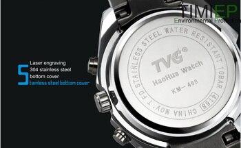 Orologi Da Uomo Blu | TVG 2019 Hight Qualità Degli Uomini Dell'acciaio Inossidabile Dell'orologio Di Modo Blu Del LED Puntatore Mens Della Vigilanza 30AM Impermeabile Della Vigilanza Di Sport