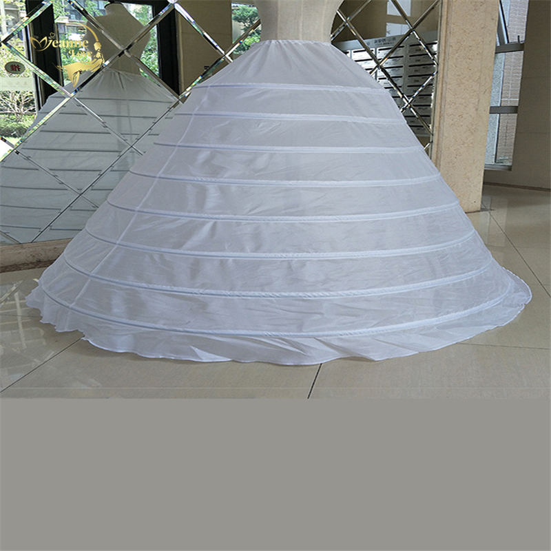 Big Wide 8 Hoops Petticoat For Ball Gown For Quinceanera Dress Strong Steels Crinoline Underskirt Jupon Mariage CW01398