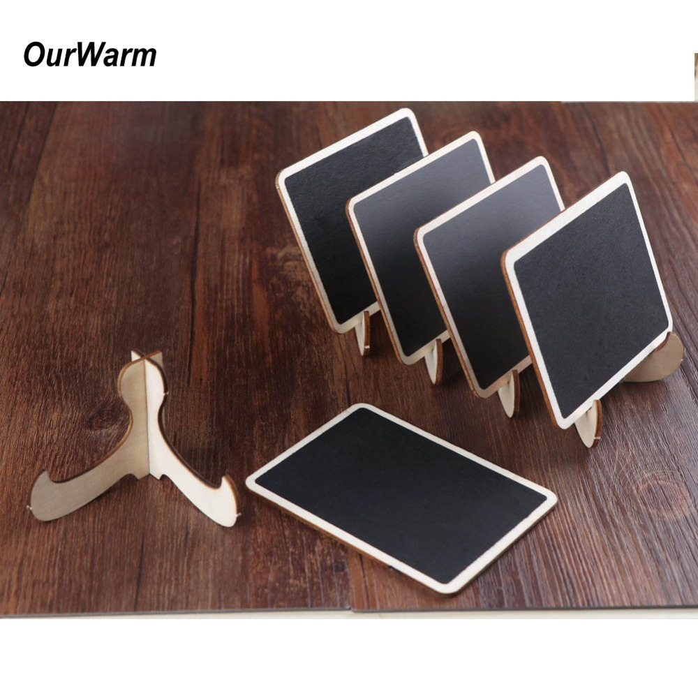 OurWarm 10Pcs Wedding Table Number Mini Chalkboard Blackboard for Wedding Party Table Decoration Supplies Party Direction Signs