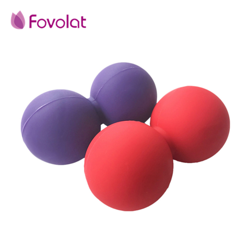 Yoga Massage Silicone Ball Double Lacrosse Massage Ball Mobility Ball for Myofascial Release Muscle Relaxer Acupoint Massage plia relaxer молекулярное выпрямление волос plia