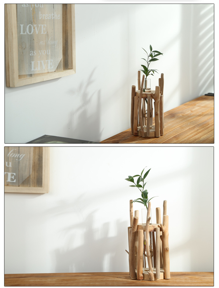 2015 Rustic Wedding Decoration Wooden Flower Pot/ Flower Stand/Zakka Home  Wooden Ornaments/wood Craft In Artificial U0026 Dried Flowers From Home U0026  Garden On ...