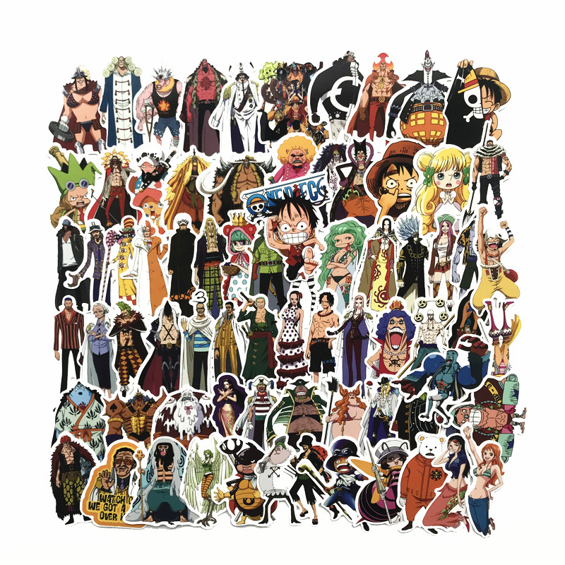 75 Pcs/Lot Anime 2019 ONE PIECE Luffy Stickers For Car Laptop PVC Backpack Home Decal Pad Bicycle PS4 Waterproof Decal