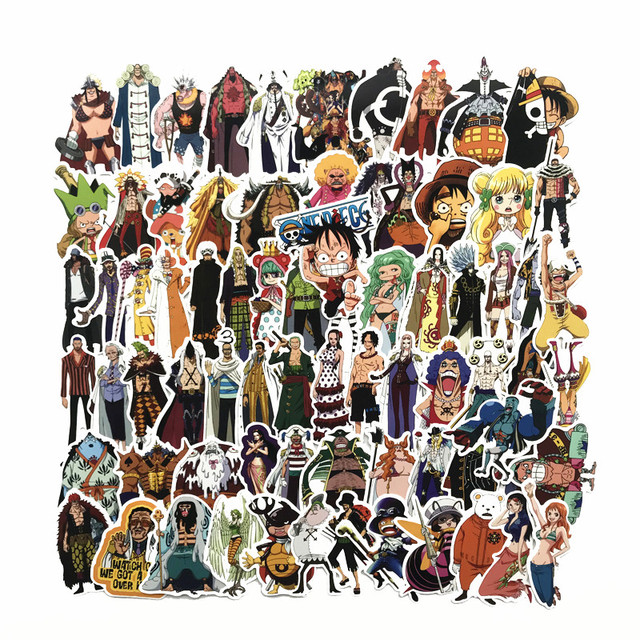 0ba64372a34 75 Pcs/Lot Anime 2019 ONE PIECE Luffy Stickers For Car Laptop PVC Backpack  Home
