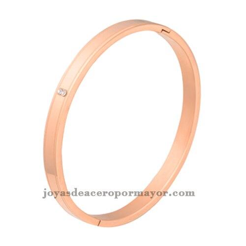 Plain Rose Gold Stainless Steel Thin Bangle Bracelets