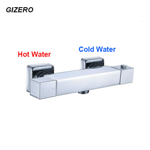 Chromed Bathroon Sink Faucet With Temperature Control: Contemporary Bathroom Shower Faucet Temperature Control